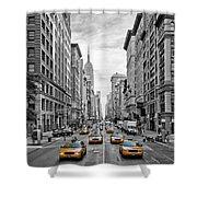 5th Avenue Nyc Traffic Shower Curtain