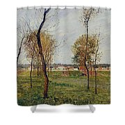 A Meadow In Eragny, 1889 Shower Curtain
