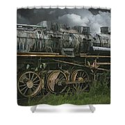 Abandoned Steam Locomotive  Shower Curtain