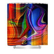 Abstract #35 Shower Curtain