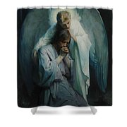 Agony In The Garden, Schwartz Shower Curtain
