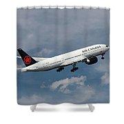 Air Canada Boeing 777-233 Lr Shower Curtain