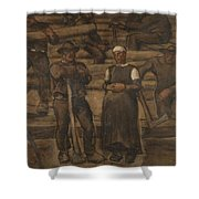 Albin Egger-lienz 1868 - 1926 The Ages Of Life Shower Curtain