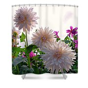Among The Flowers Shower Curtain