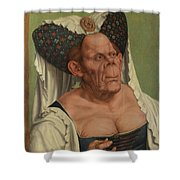 An Old Woman  The Ugly Duchess   Shower Curtain