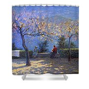 Angelo Morbelli 1853-1919, Spring In Colma - 1906 Shower Curtain