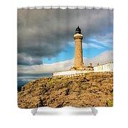 Ardnamurchan Point Lighthouse In Portrait Format. Shower Curtain