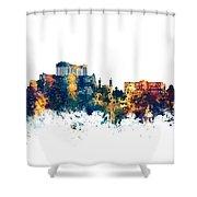 Athens Greece Skyline Shower Curtain