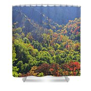 Autumn Color On Newfound Gap Road In Smoky Mountains National Park Shower Curtain