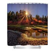 Autumn Sun Shower Curtain