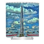 B-17 Tail Fin Shower Curtain