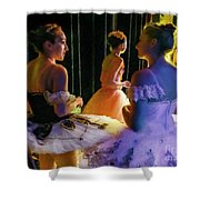 Ballerina Discussions Shower Curtain