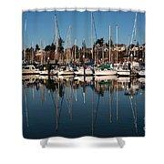 Bellingham Bay Marina  Shower Curtain