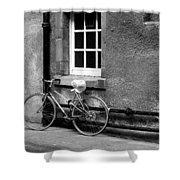 bicycle in Edinburgh close Shower Curtain