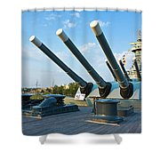 Big Guns Shower Curtain