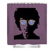 Blowin In The Wind Bob Dylan Shower Curtain