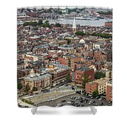 Boston Government Center, North End And Harbor Shower Curtain