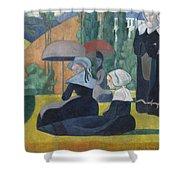 Breton Women With Umbrellas  Shower Curtain