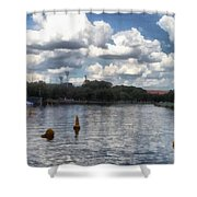Buoys In The River Shower Curtain