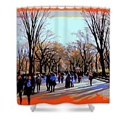 Central Park Mall Shower Curtain
