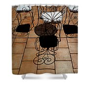 Chairs And Shadows Shower Curtain