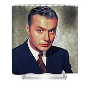 Charles Boyer, Vintage French Actor Shower Curtain