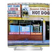 Coney Island Lunch Shower Curtain