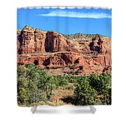Courthouse Rock, Sedona Shower Curtain by Dawn Richards