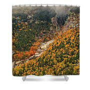 Crawford Notch Fall Foliage Shower Curtain