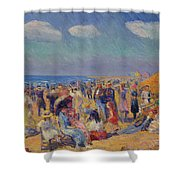 Crowd At The Seashore Shower Curtain