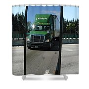 Green Freightliner Publix Shower Curtain