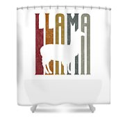 Cute Funny Llama Make Me Happy Retro Llamas Shower Curtain