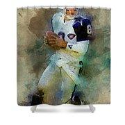 Dallas Cowboys.troy Kenneth Aikman Shower Curtain