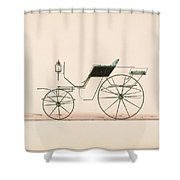 Design For Driving Or Road Phaeton Unnumbered Shower Curtain