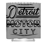 Detroit Motor City Shower Curtain