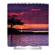 Detroit Point September Sunset Shower Curtain
