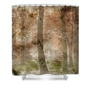 Digital Watercolor Painting Of Stunning Colorful Moody Vibrant A Shower Curtain