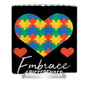1 Embrace Differences Shower Curtain