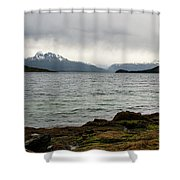 Ensenada Bay, Tierra Del Fuego National Park, Ushuaia, Argentina Shower Curtain