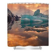 Sunset On Iceberg Shower Curtain
