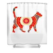 Fire Flower Cats Shower Curtain