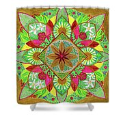 Flower Garden Mandala Shower Curtain