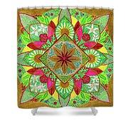 Flower Garden Mandala Shower Curtain