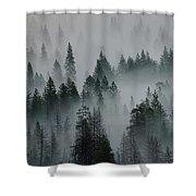 Foggy Yosemite Shower Curtain