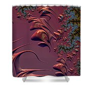 Fractal Playground In Pink Shower Curtain by Shelli Fitzpatrick