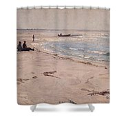 From The Beach At Sele  Shower Curtain