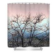 Frosty Limbs Shower Curtain
