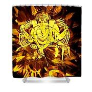 Ganesha4 Shower Curtain