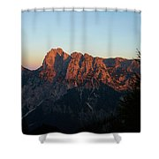 Glowing Mountains Shower Curtain