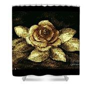 Antique Gold Rose Shower Curtain